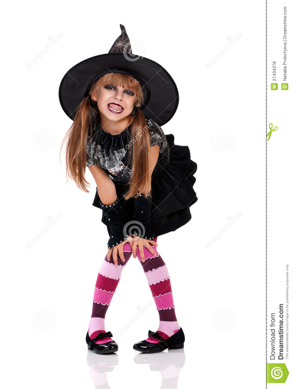 Little Girl In Halloween Costume Royalty Free Stock Photos - Image ...
