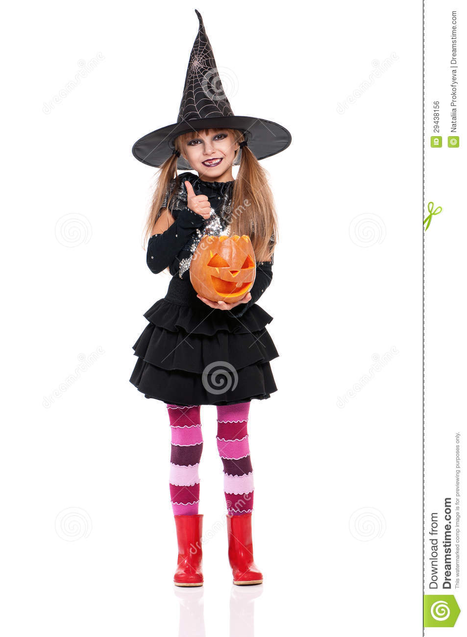Little Girl In Halloween Costume Royalty Free Stock Image - Image ...