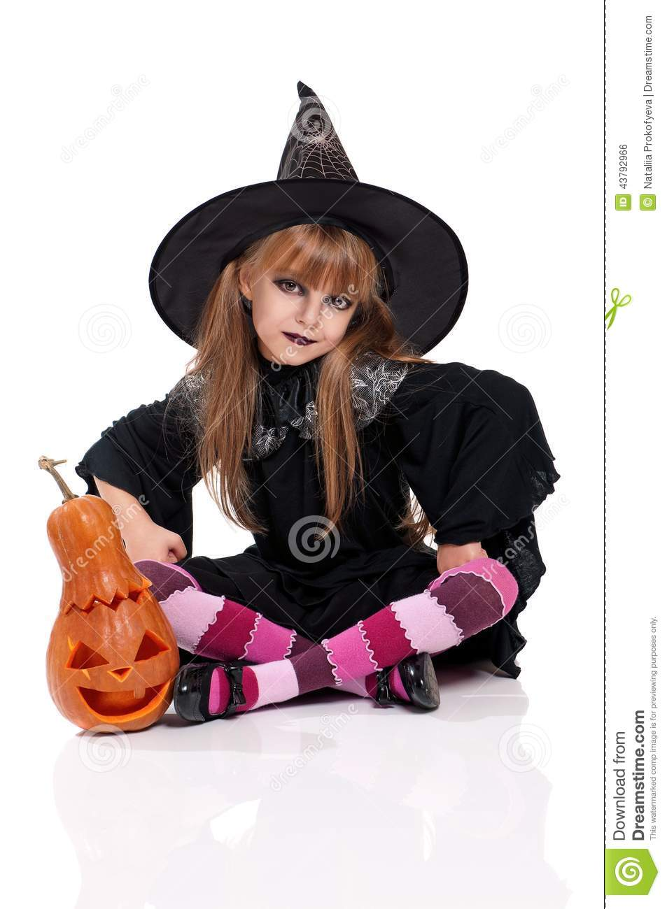 Little Girl In Halloween Costume Stock Photo - Image: 43792966