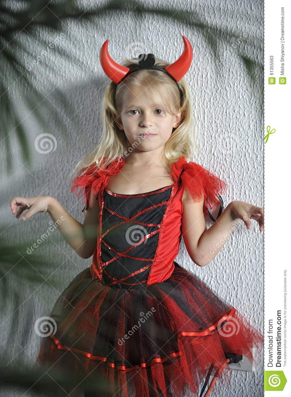 Little Girl In Halloween Costume. Stock Photo - Image: 61355563