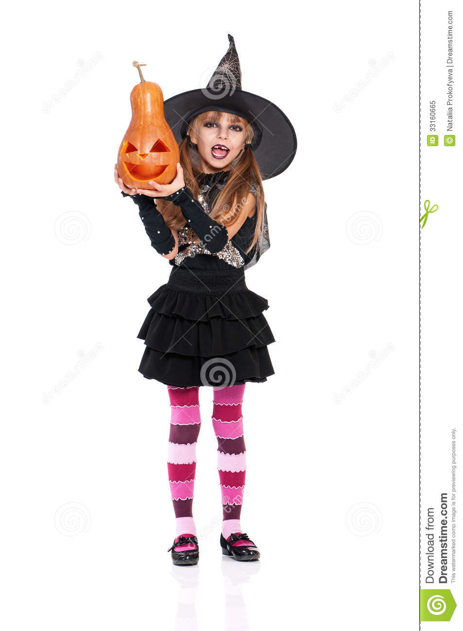 Little Girl In Halloween Costume Royalty Free Stock Photo - Image ...