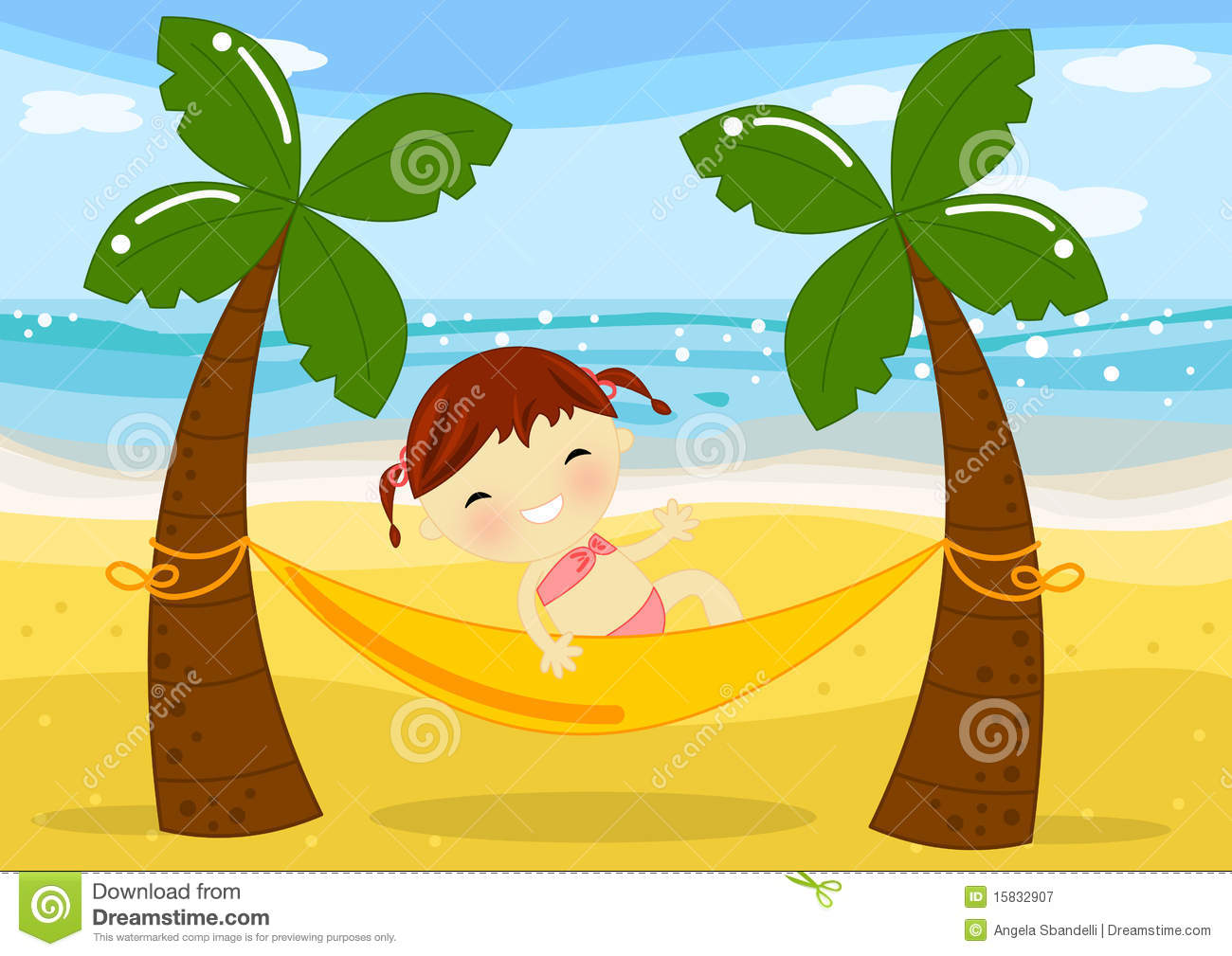 beach hammock stock illustrations – 1,352 beach hammock stock