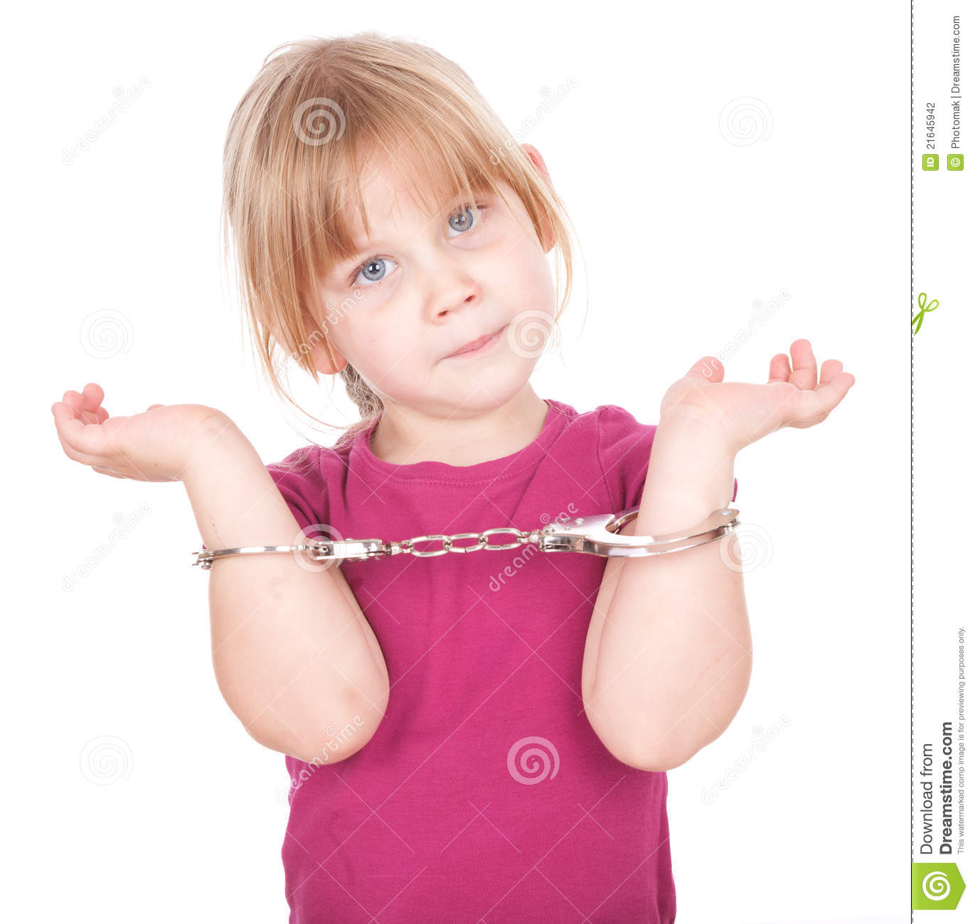Sorry, Little girls in handcuffs was specially