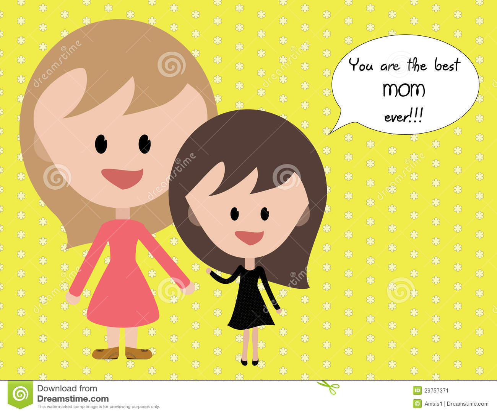 I Love My Mom Stock Illustration Illustration Of Emotions 29757371