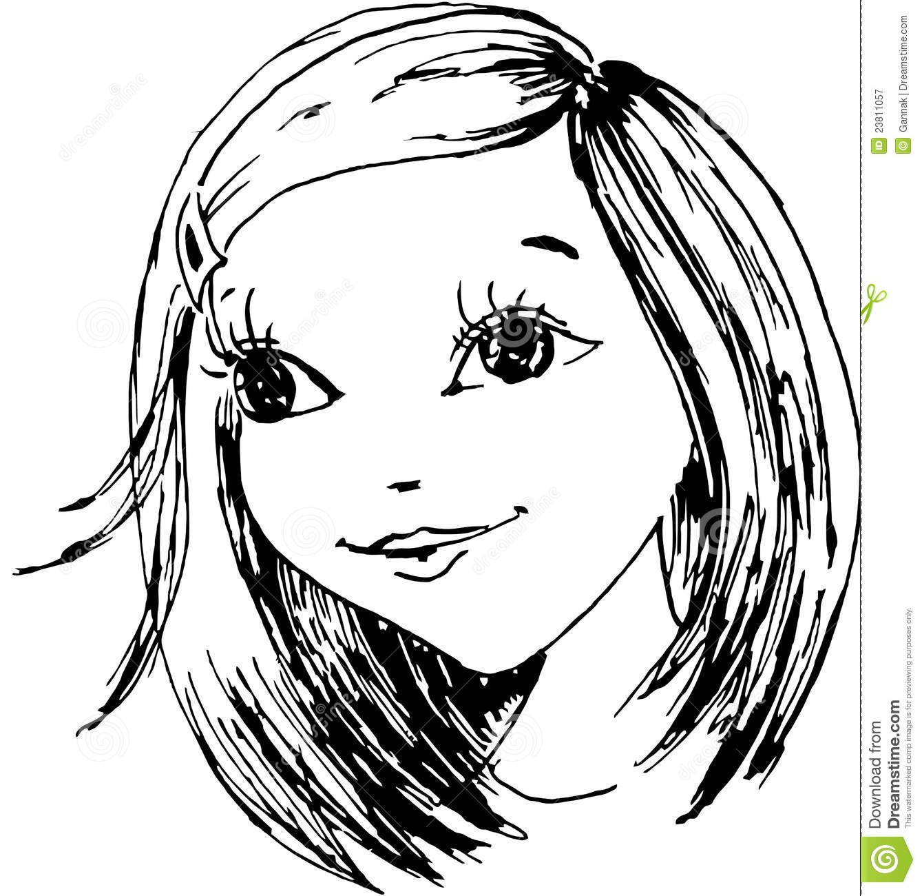 Happy Little Girl Clipart