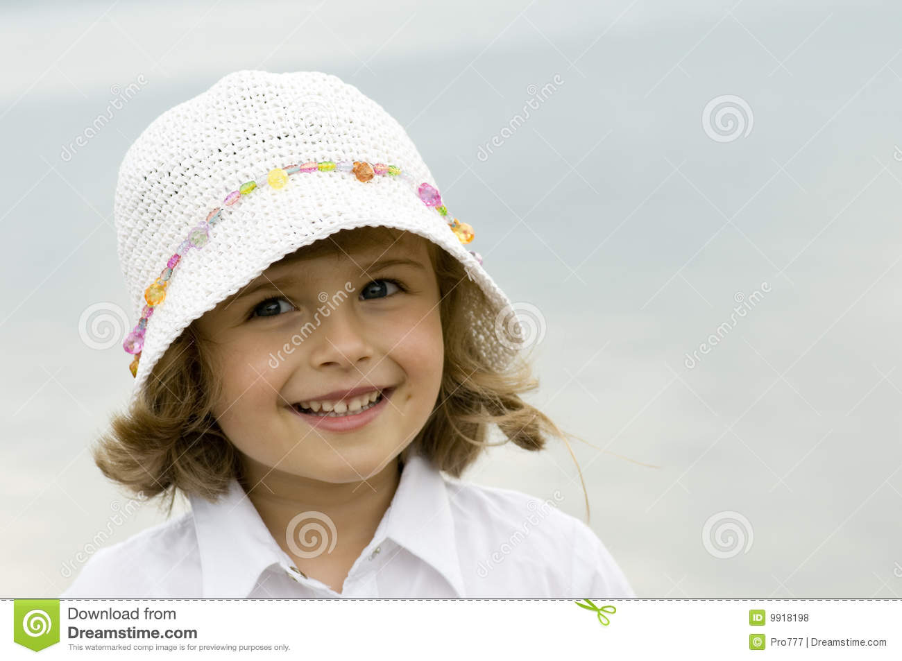 Little girl in hat