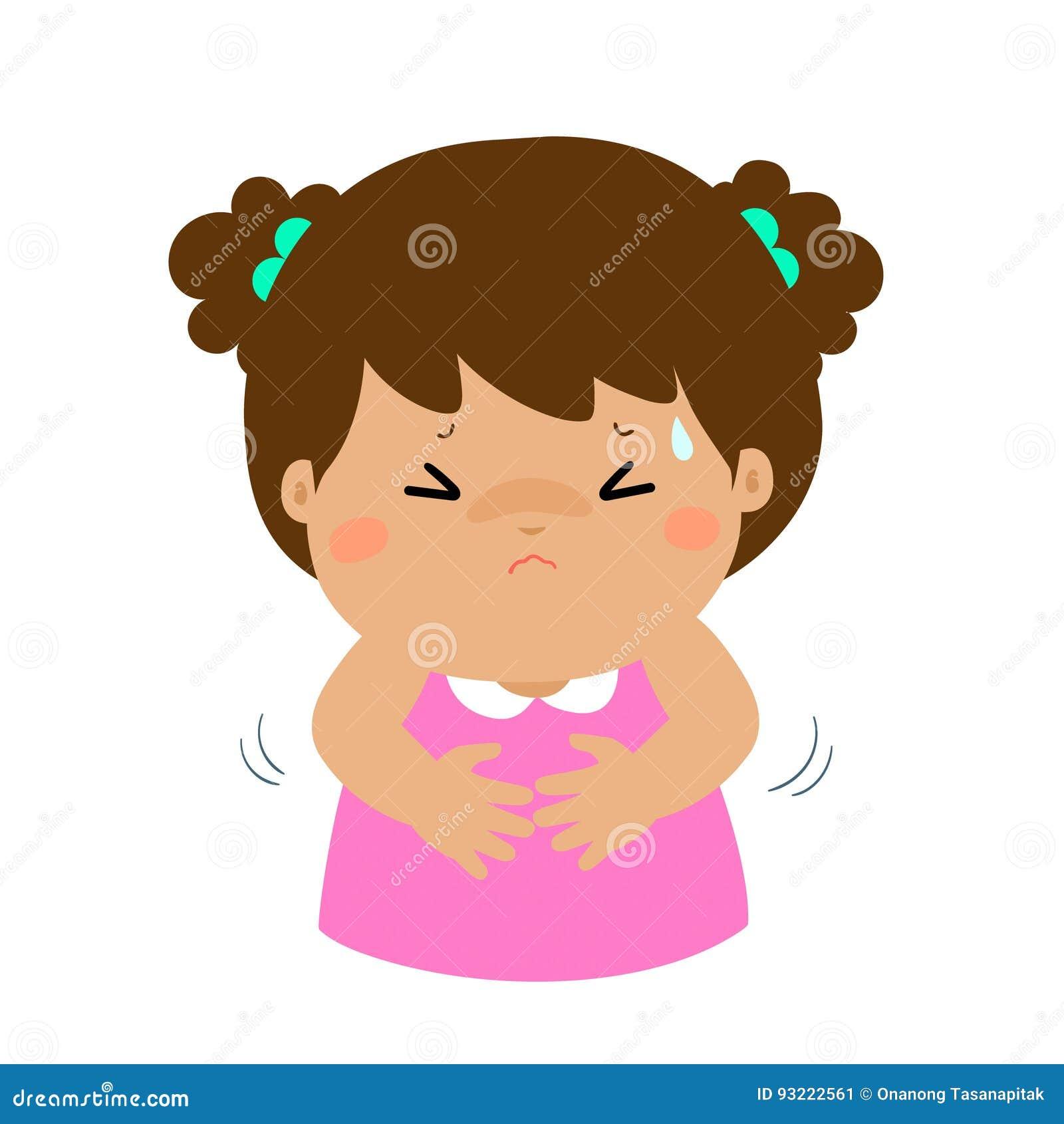 Little Girl Having Stomach Ach...