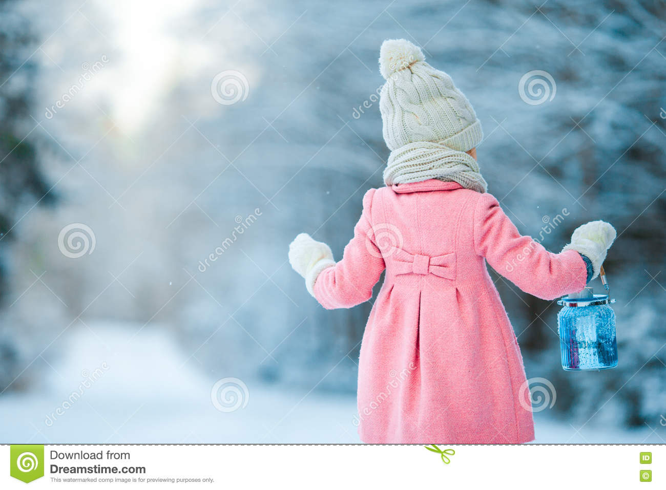Beautiful christmas snow pictures the snow on christmas day in - Beautiful Christmas Flashlight Fun Girl Lantern Little Snow