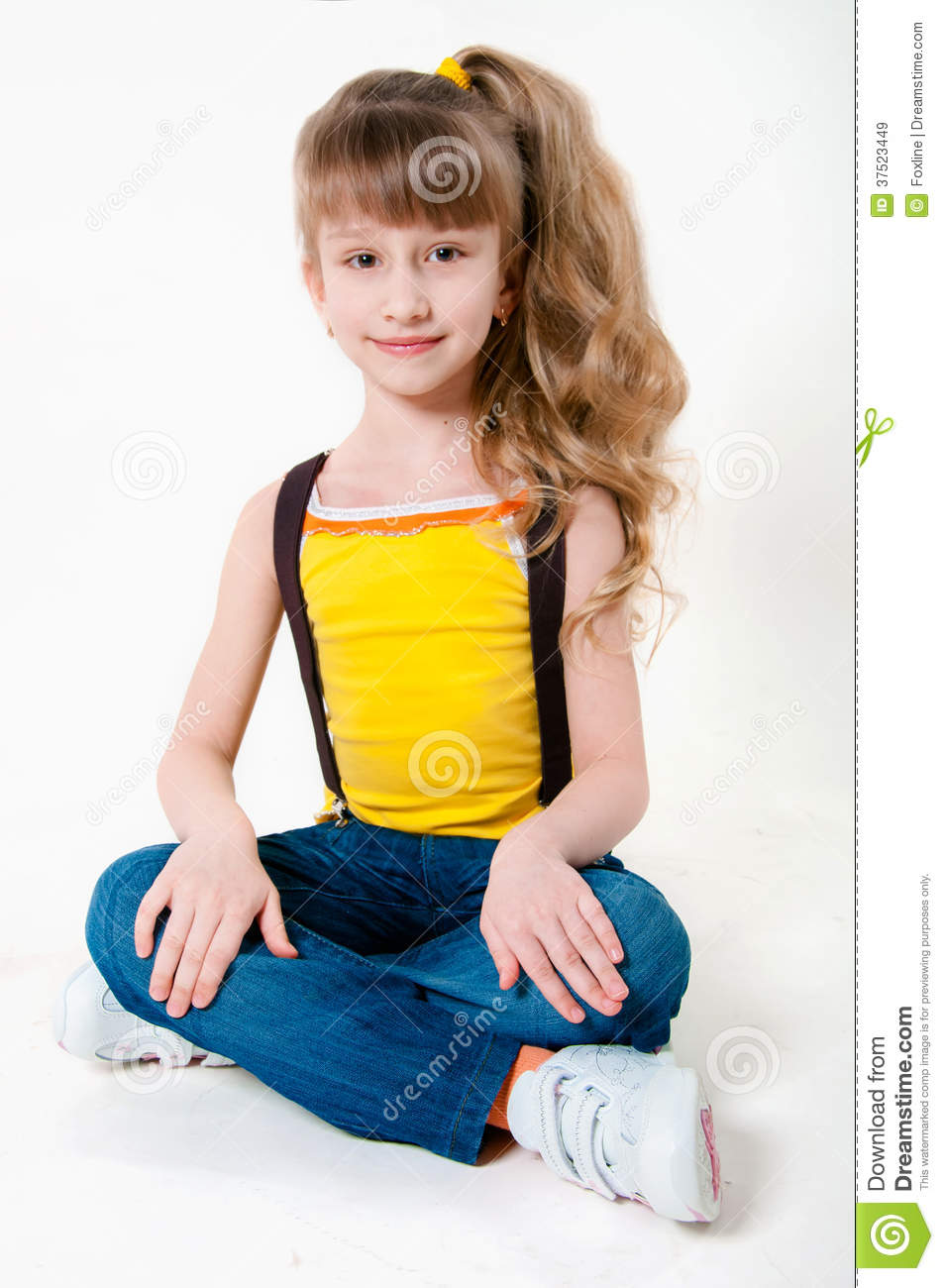Little Girl Looking Away High-Res Stock Photo - Getty Images
