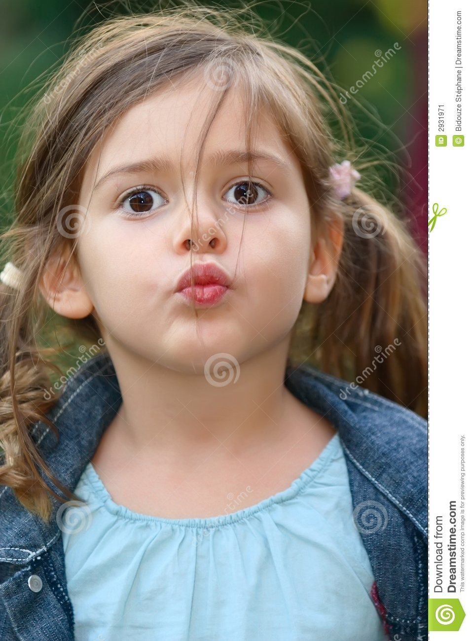 Little Girl Kiss Stock Image Image 2931971