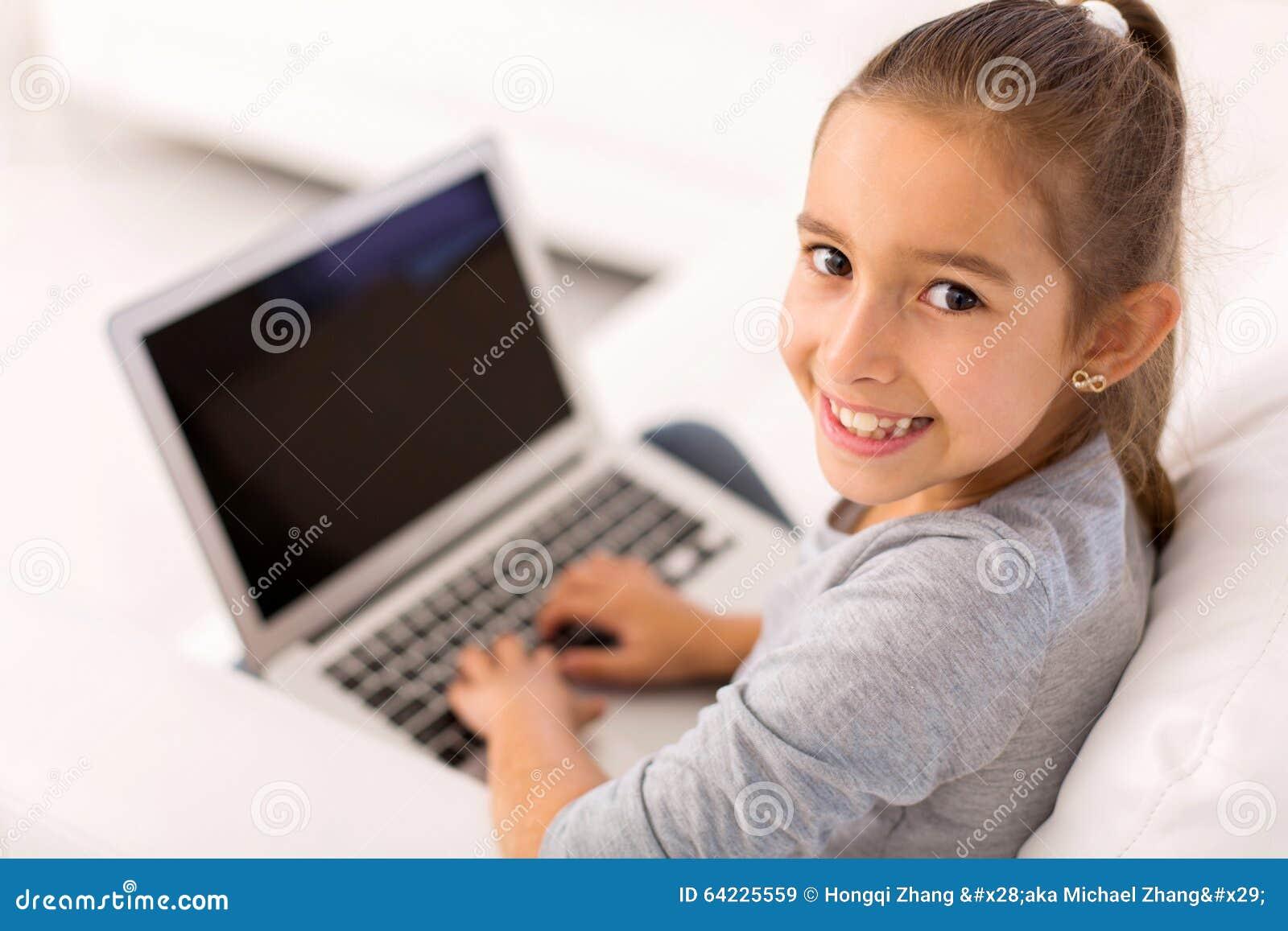 Little girl laptop computer