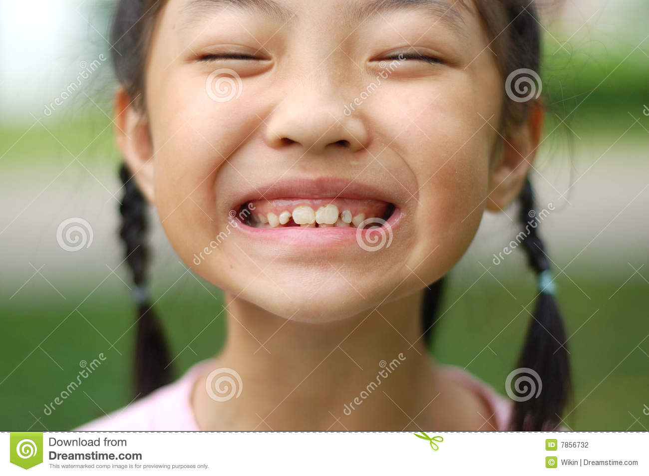 A Little Girl Make Faces Stock Photography Image 7856732