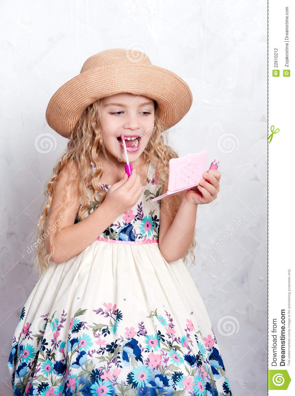 royalty free stock photography little girl make up