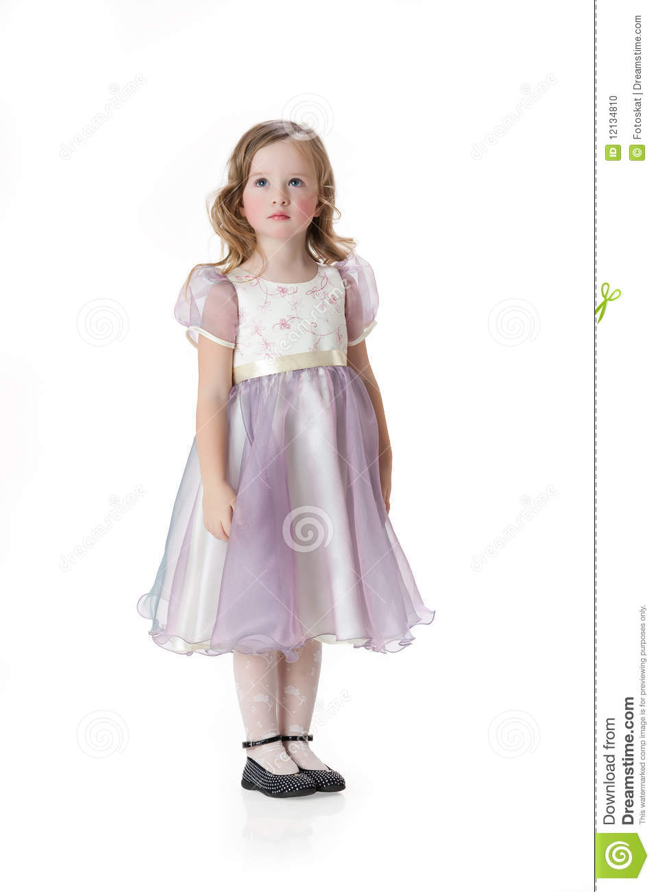Little Girl In Masquerade Clothing
