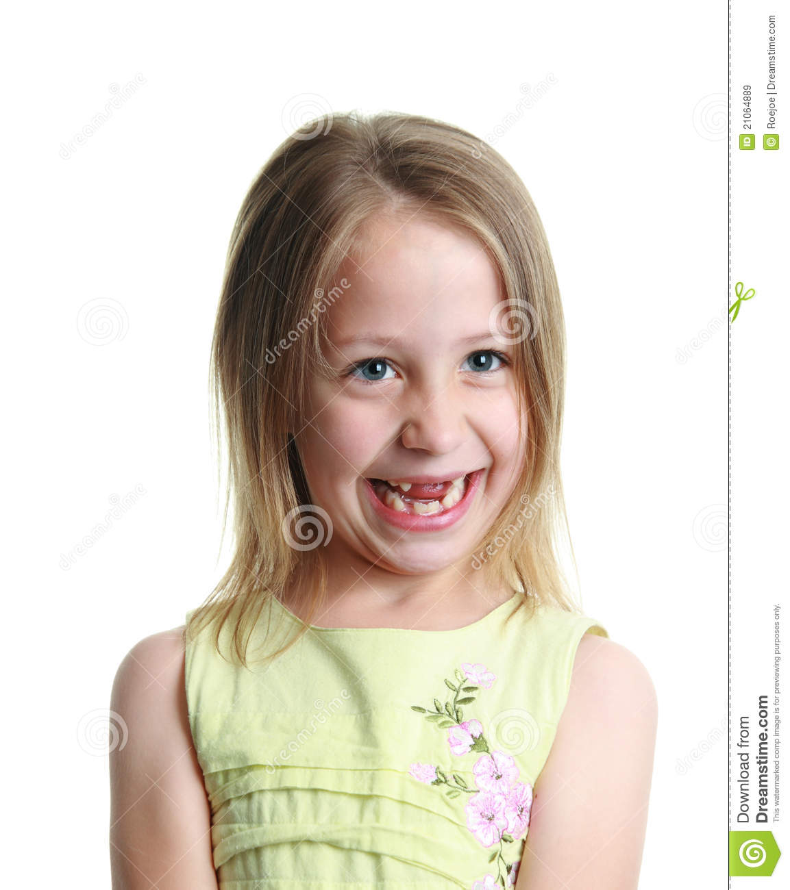 Little Girl Missing Her Two Front Teeth Stock Image ...