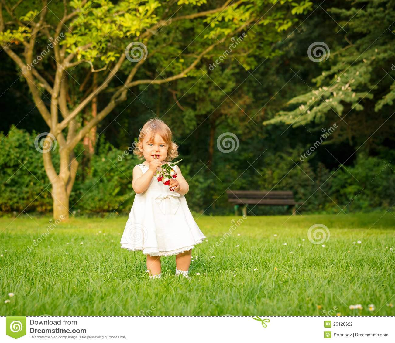 Little Girl In The Park Stock Photo. Image Of Small