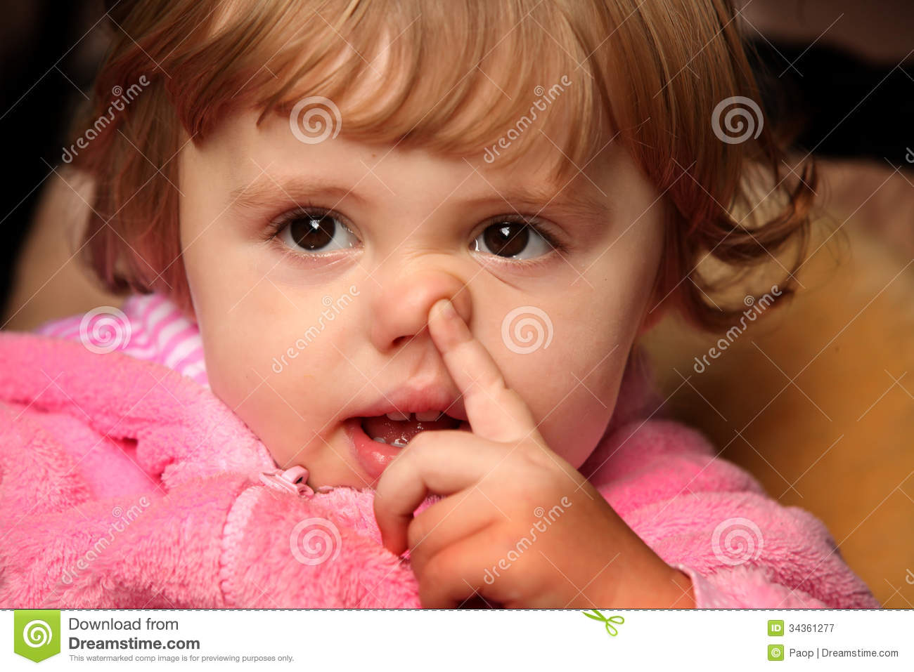 Little Girl Picking Her Nose Stock Image Image Of