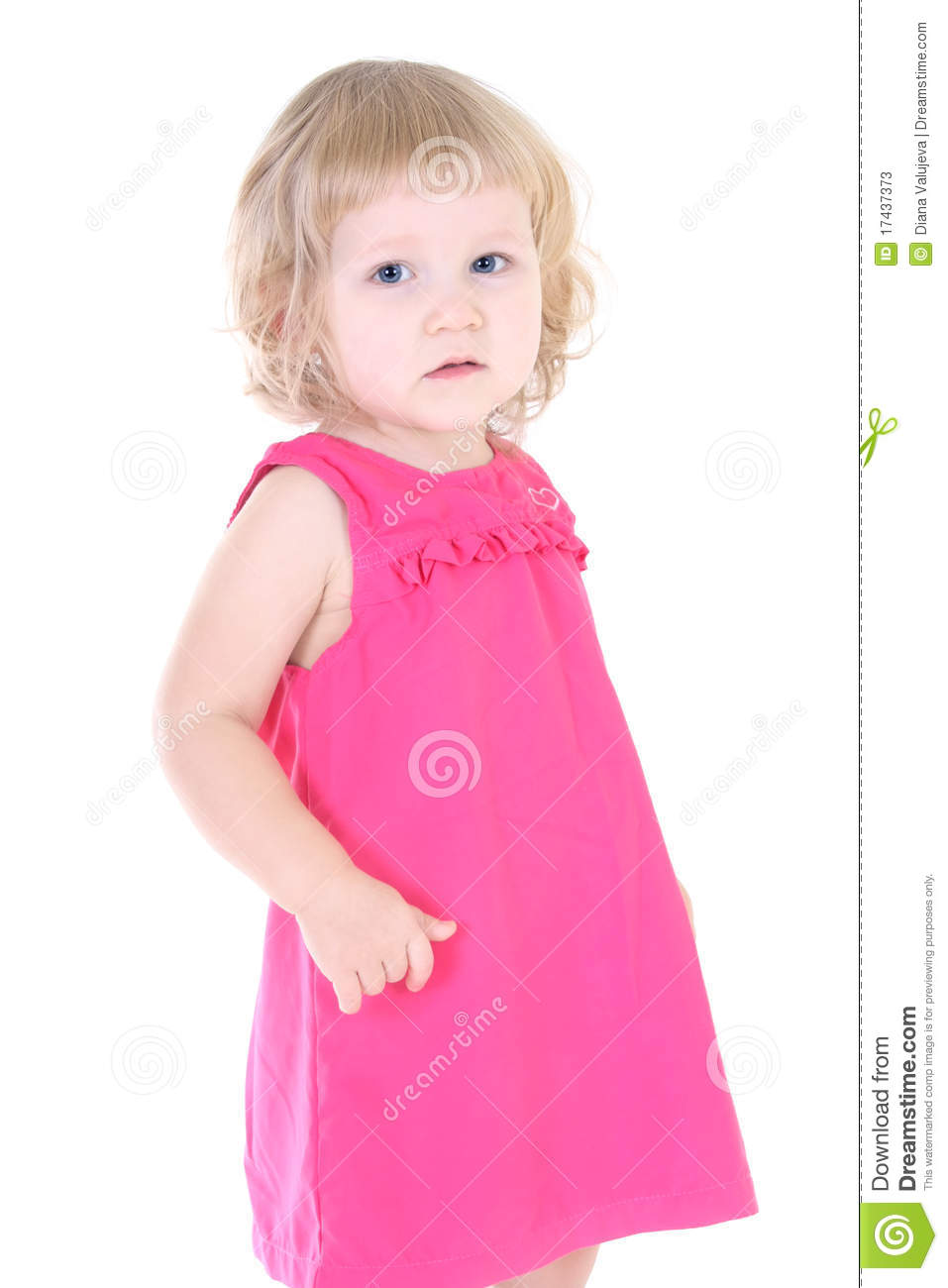 Little Girl In Pink Dress Stock Photos - Image: 17437373