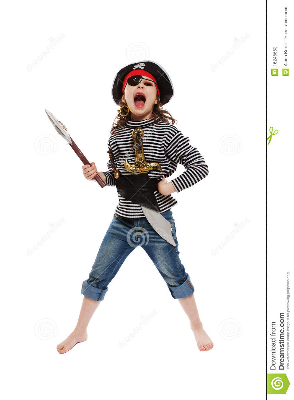 Little Girl In Pirate's Costume Stock Photos - Image: 16245653