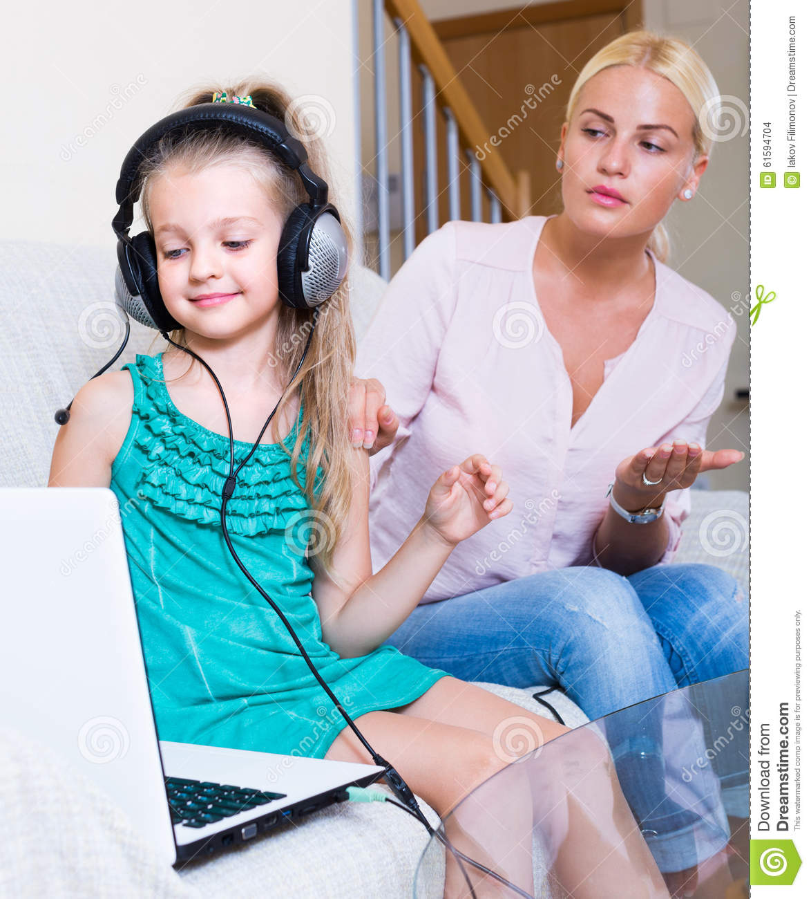 Little Girl Playing Computer Game Stock Photo - Image of