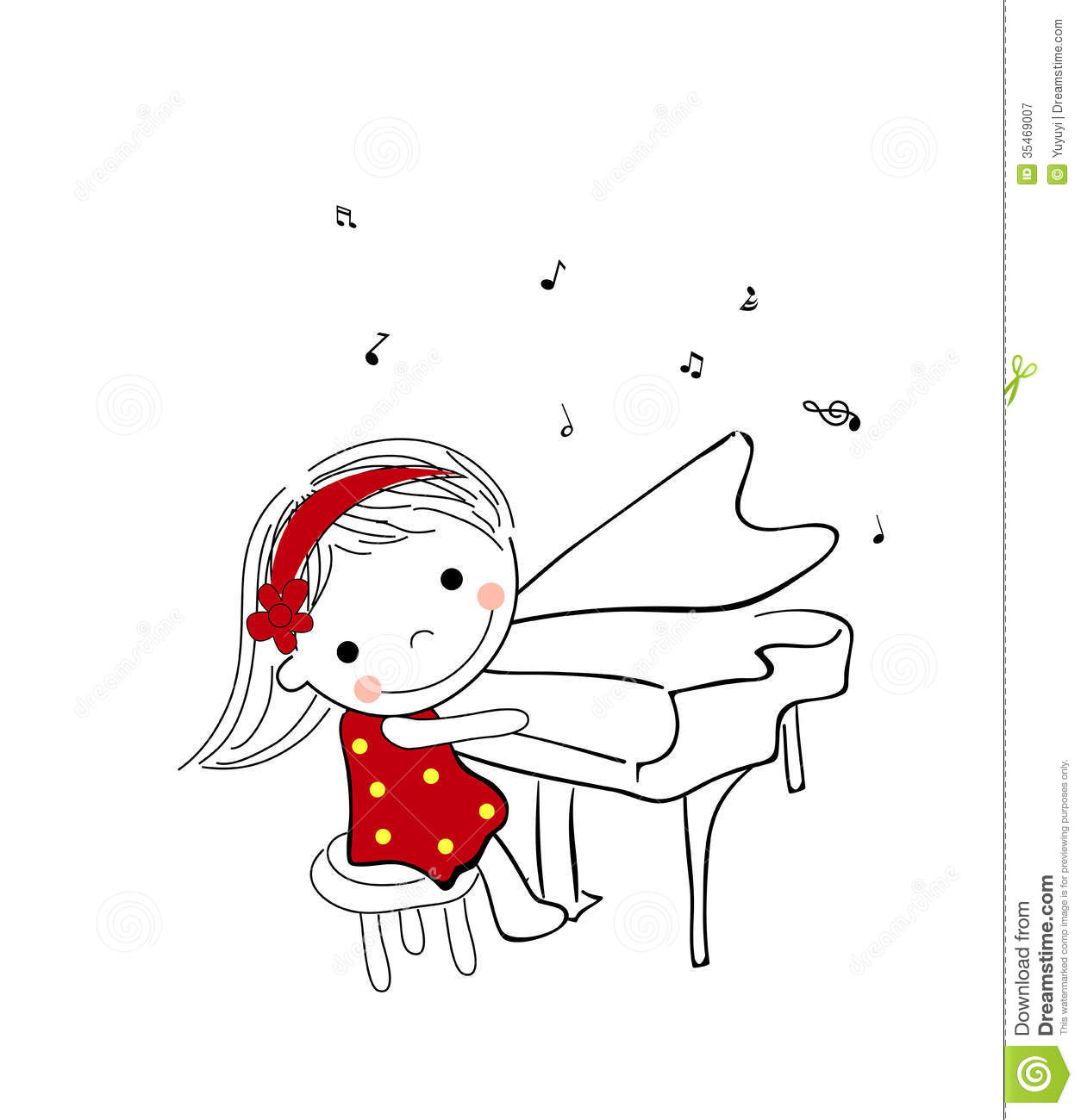 Little Girl Playing Piano Royalty Free Stock Photography ...