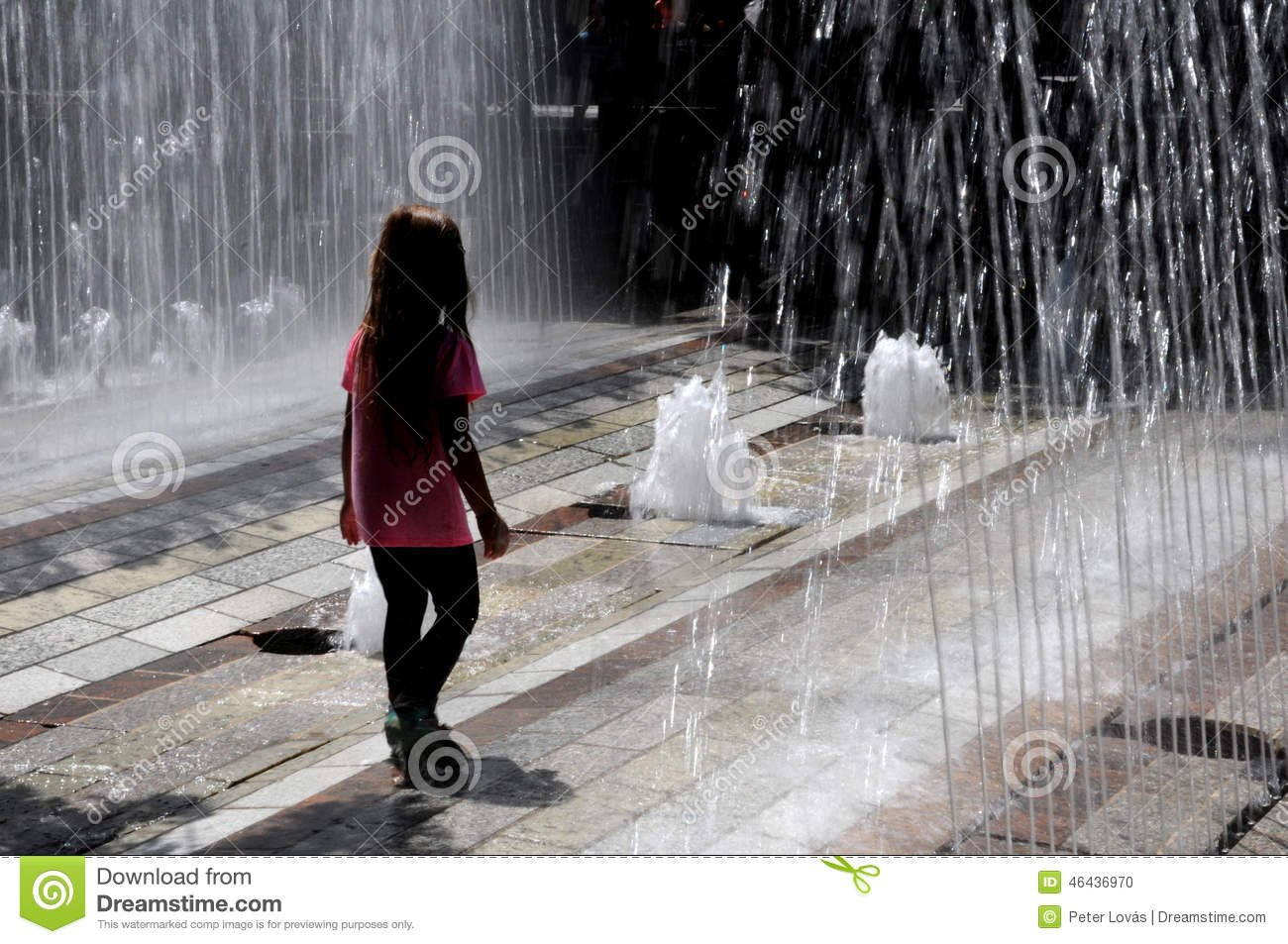 Little Girl Playing In Water Editorial Image - Image of beat, pour
