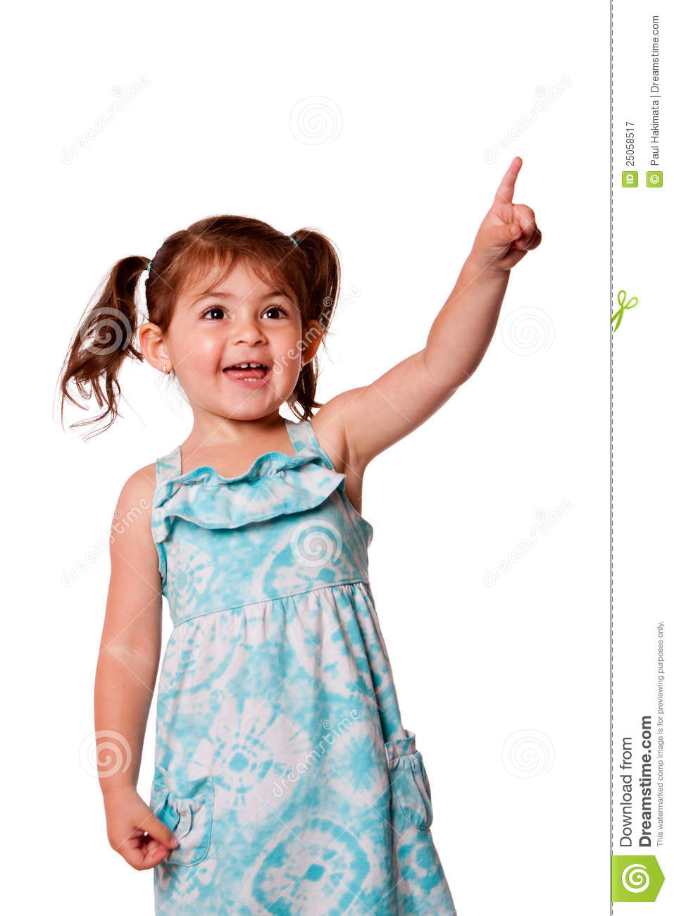 Little Girl Pointing Up Royalty Free Stock Photography ...