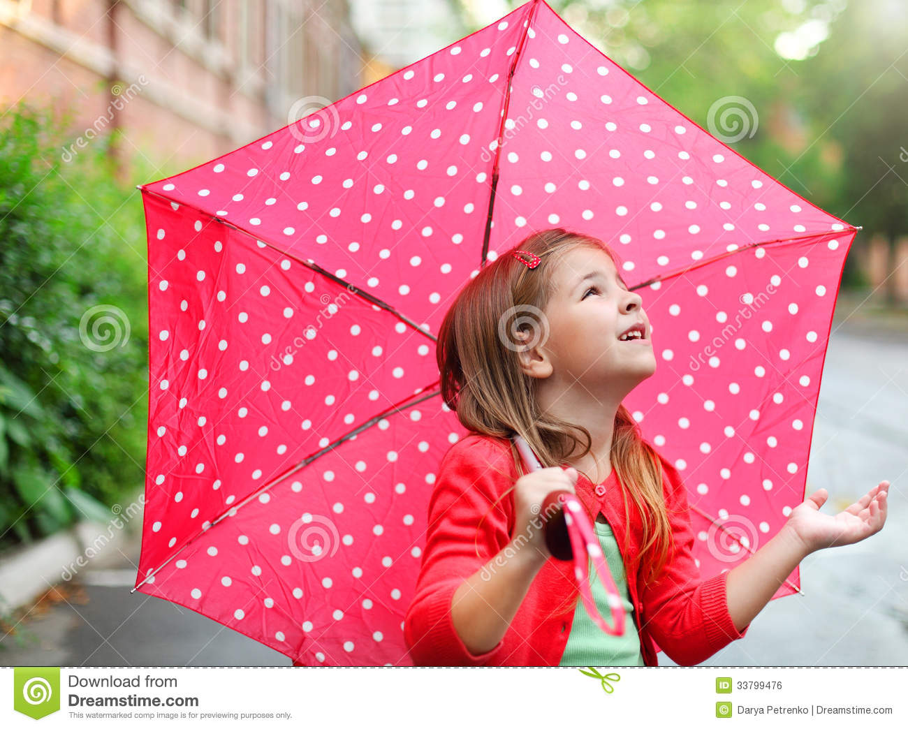 Red Rain Boots Clipart Little Girl With Polka...
