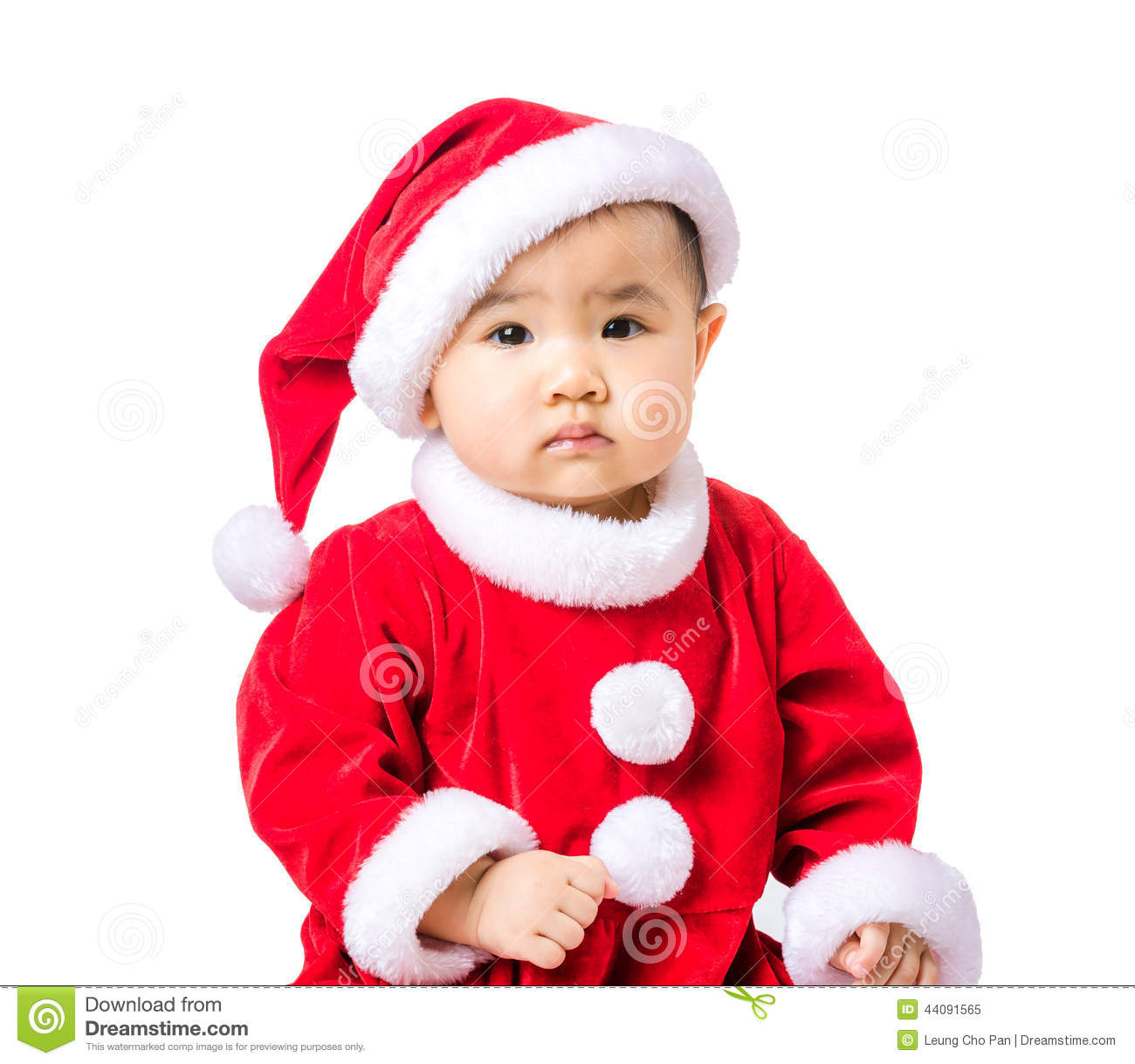 Little girl portrait with christmas dressing