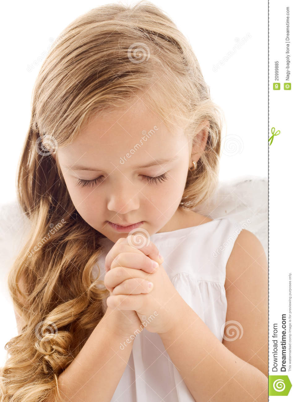 Little Girl Praying Royalty Free Stock Photo - Image: 20999885