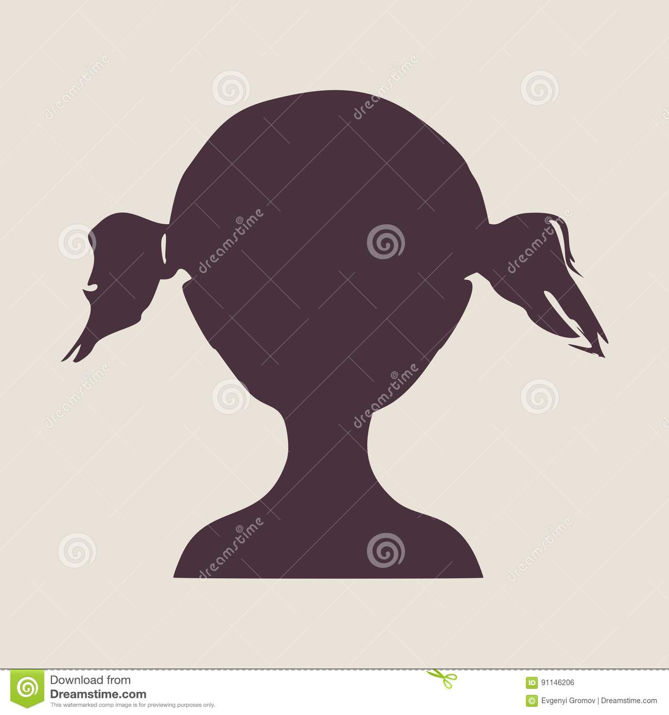 Little Girl Profile Silhouette Www Pixshark Com Images