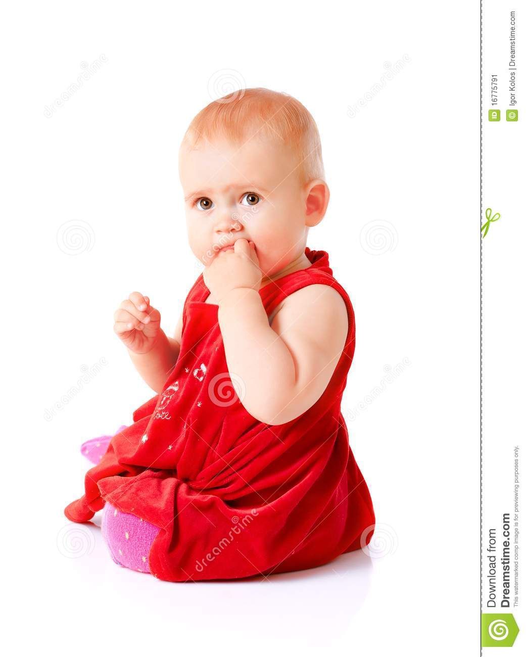 549394c9a804 Little girl in red dress stock image. Image of playful - 16775791