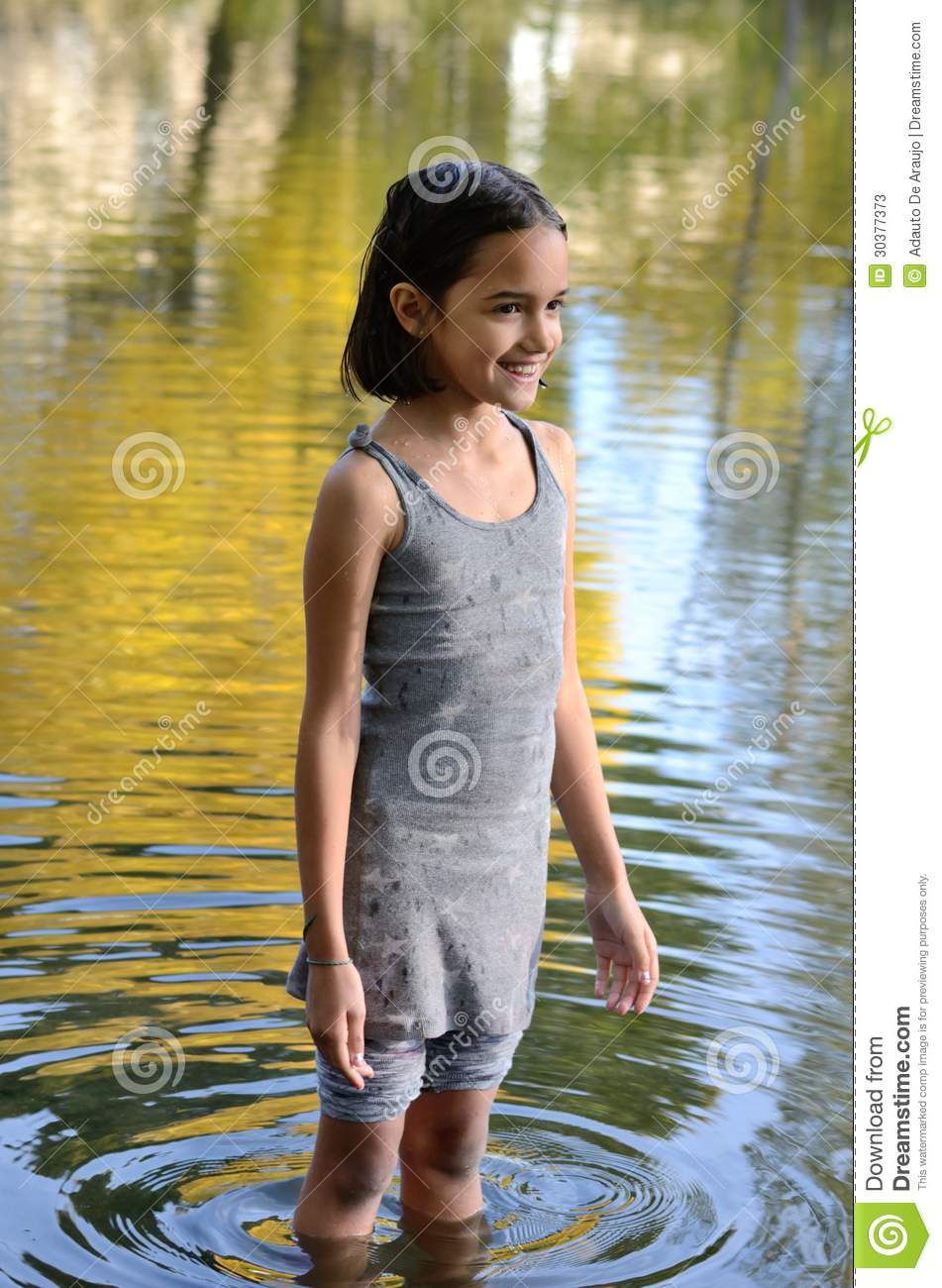 little girls river little girl playing in river Siem Reap Angkor Cambodia Stock ...