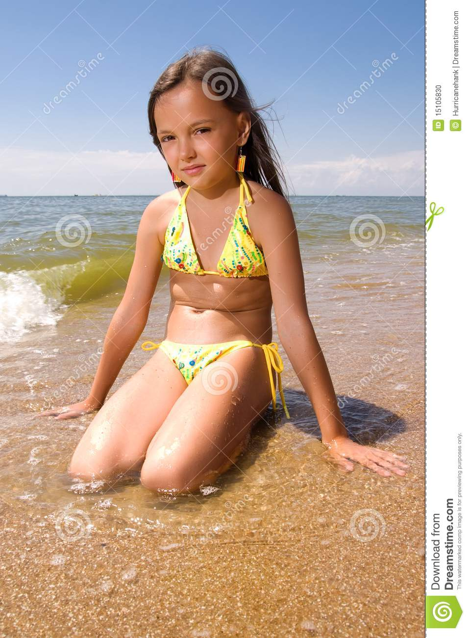 Little Girl At The Seaside Stock Photo Image 15105830