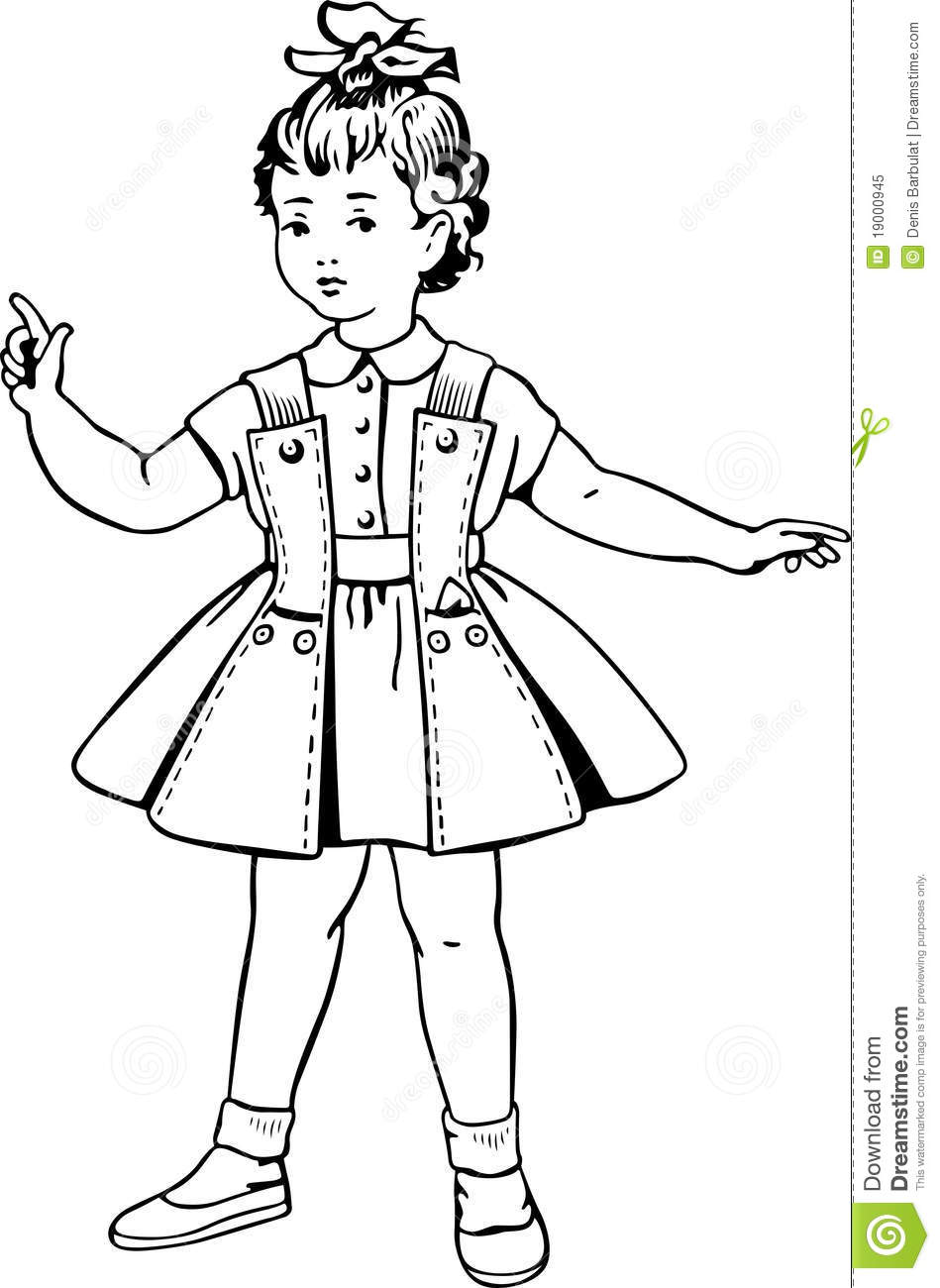 Little Girl In A Short Dress Royalty Free Stock Photo - Image 19000945