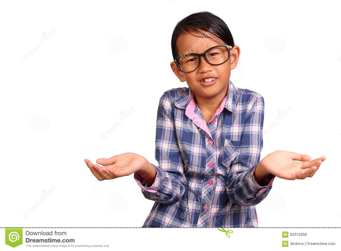 little girl with shrug gesture stock photo image of what young