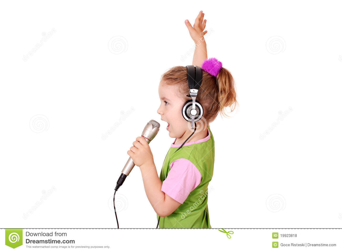 Little Girl Singing Royalty Free Stock Photos - Image ...