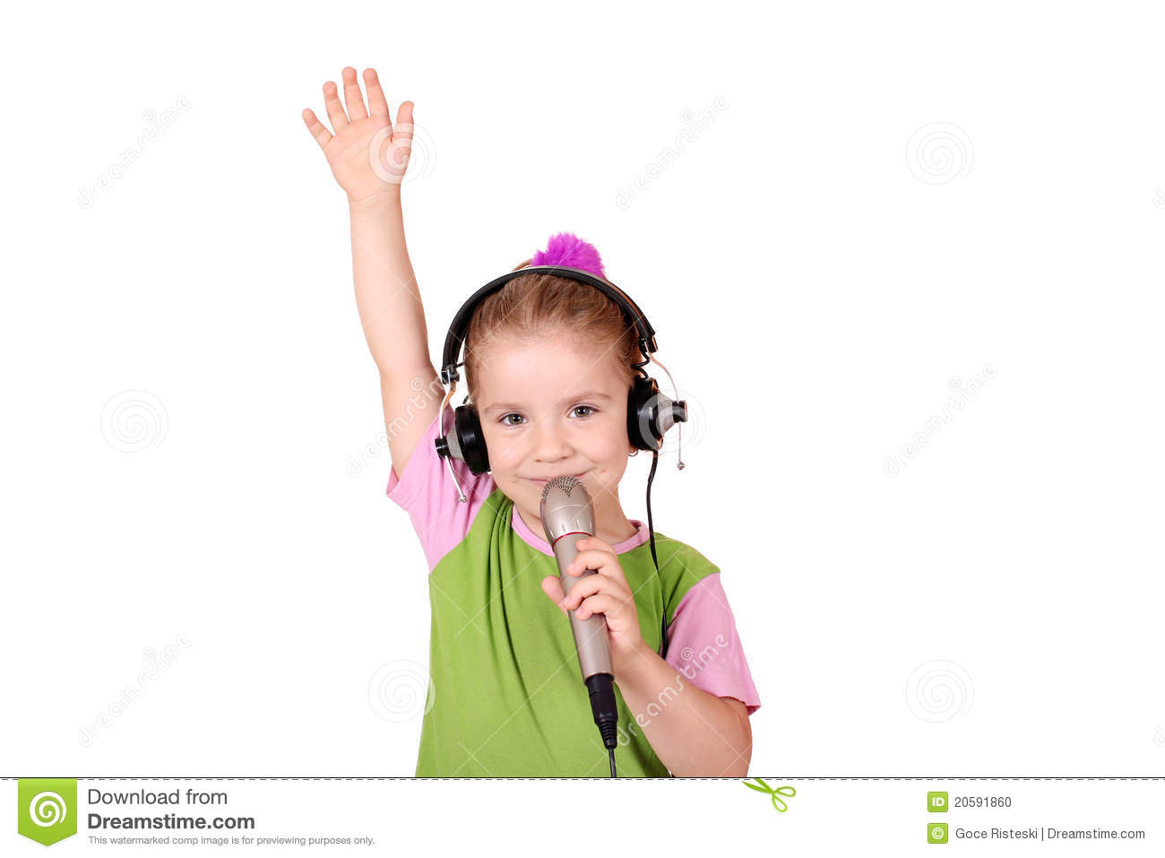 Little Girl Singing Stock Photo - Image: 20591860