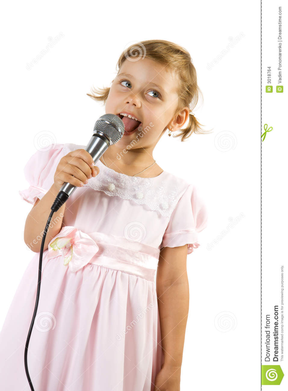 Little girl singing. stock photo. Image of lifestyles ...