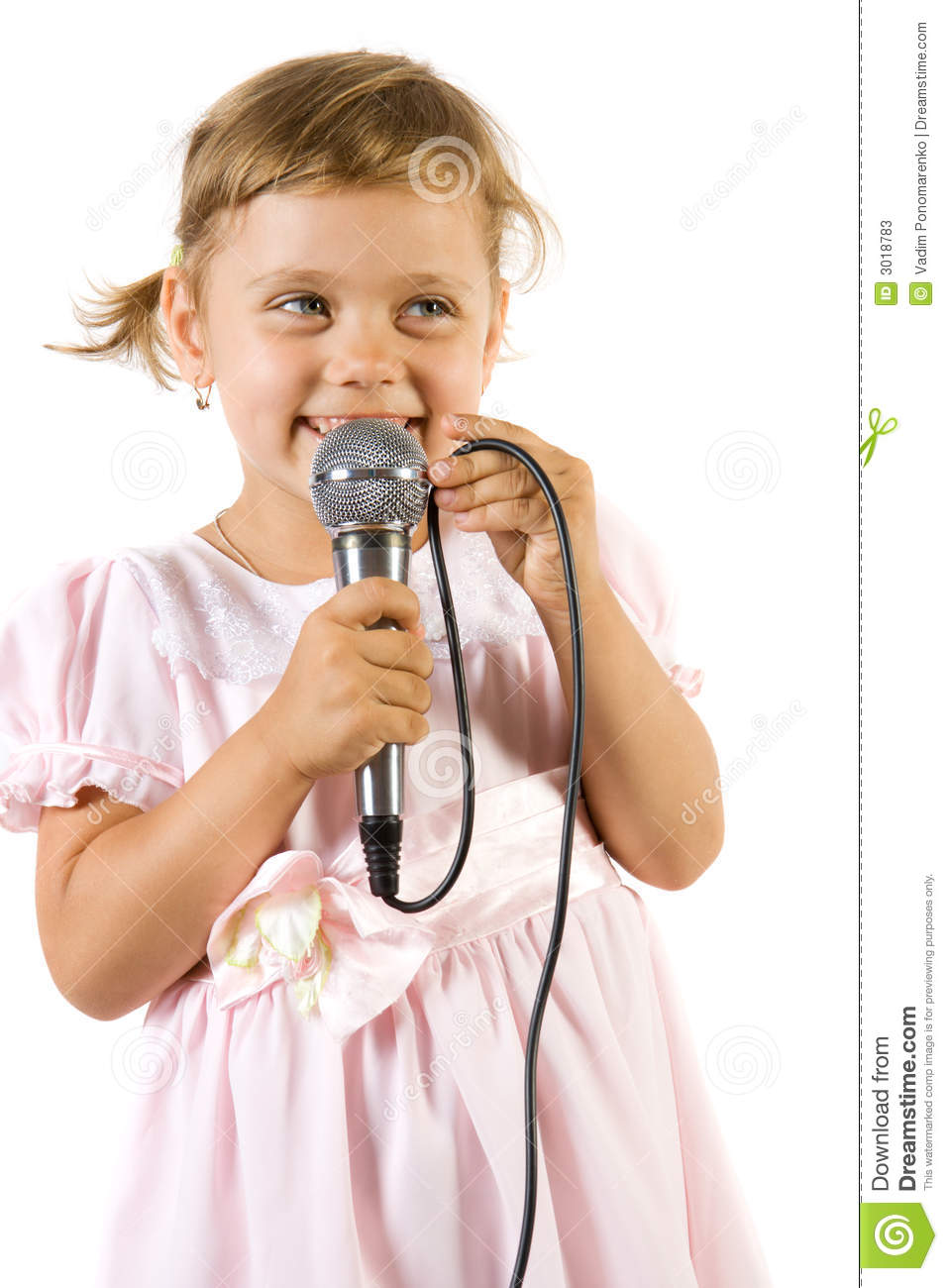 Little girl singing. stock image. Image of mouth ...