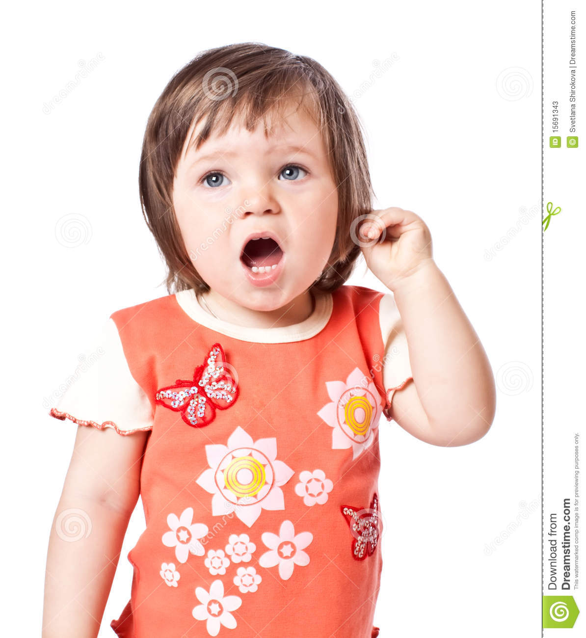 Little Girl Sings Stock Photos - Image: 15691343