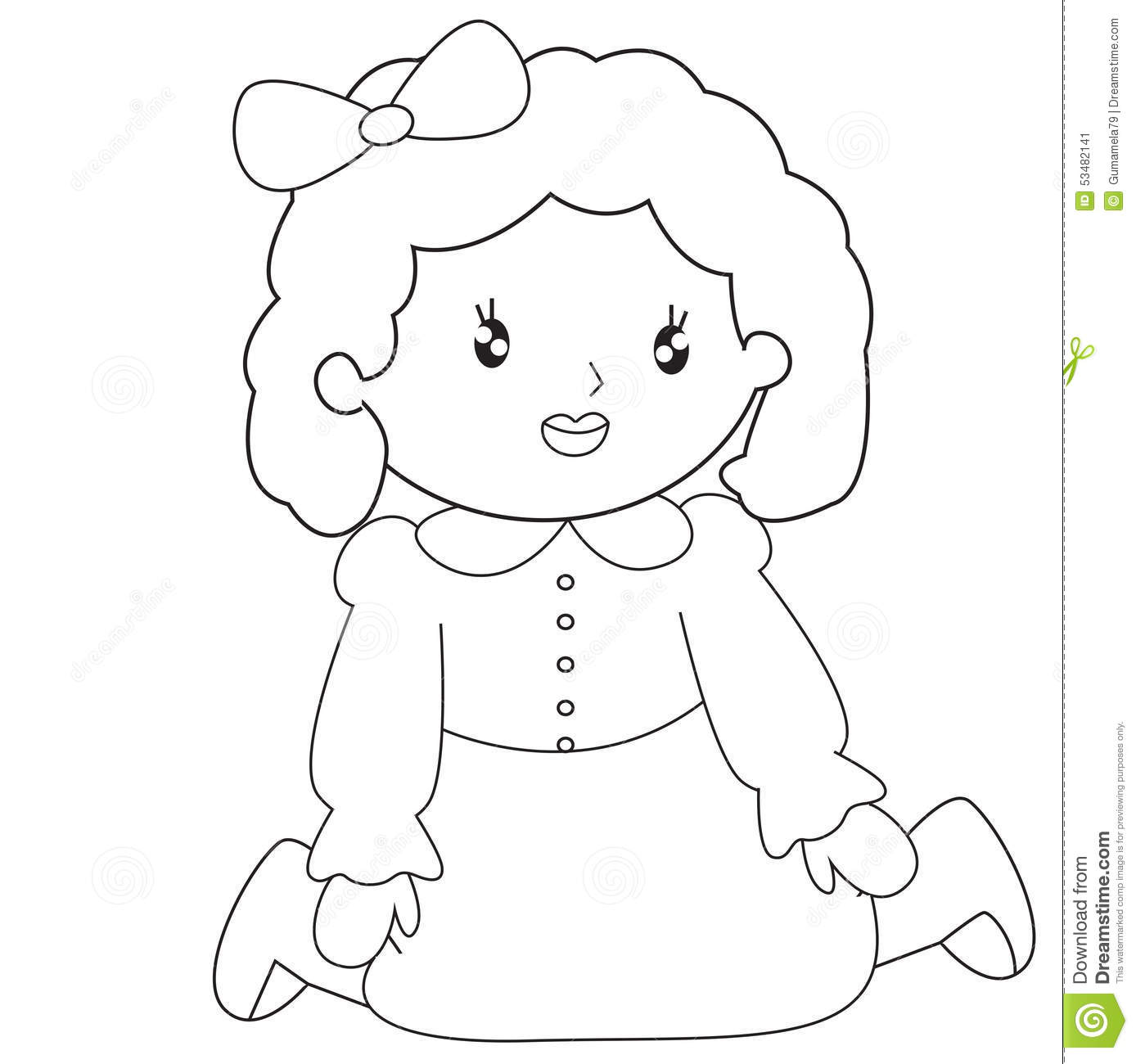 little sitting coloring page stock illustration image 53482141
