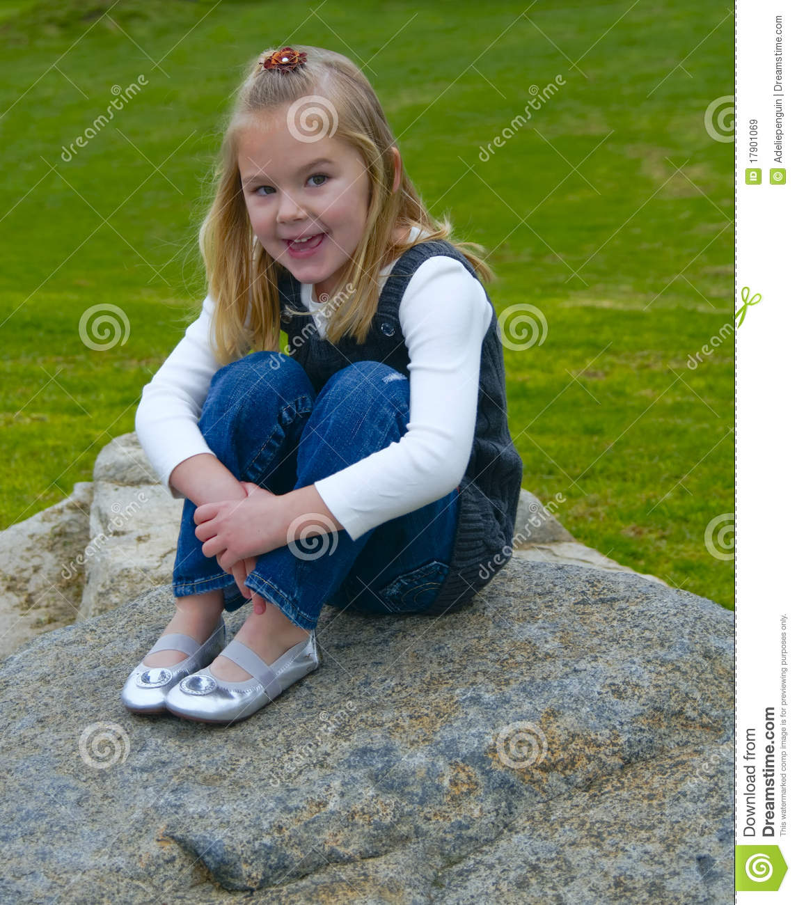Siren, Naughty girl sitting on rock alluring should