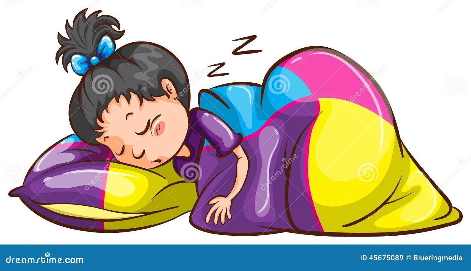 Ilustraciones femeninas  - Página 14 Little-girl-sleeping-soundly-illustration-white-background-45675089