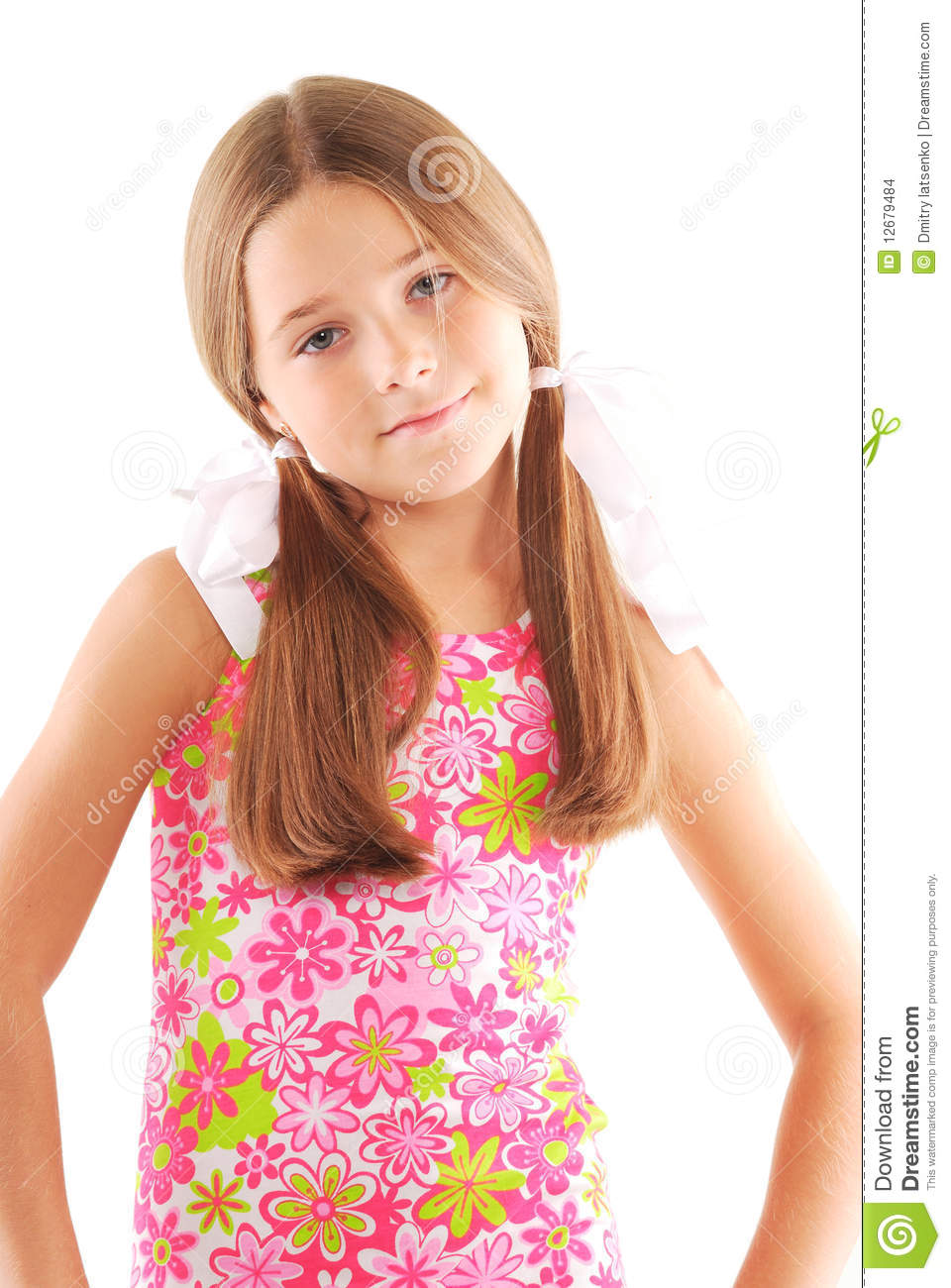Little Girl Standing Stock Images - Image: 12679484