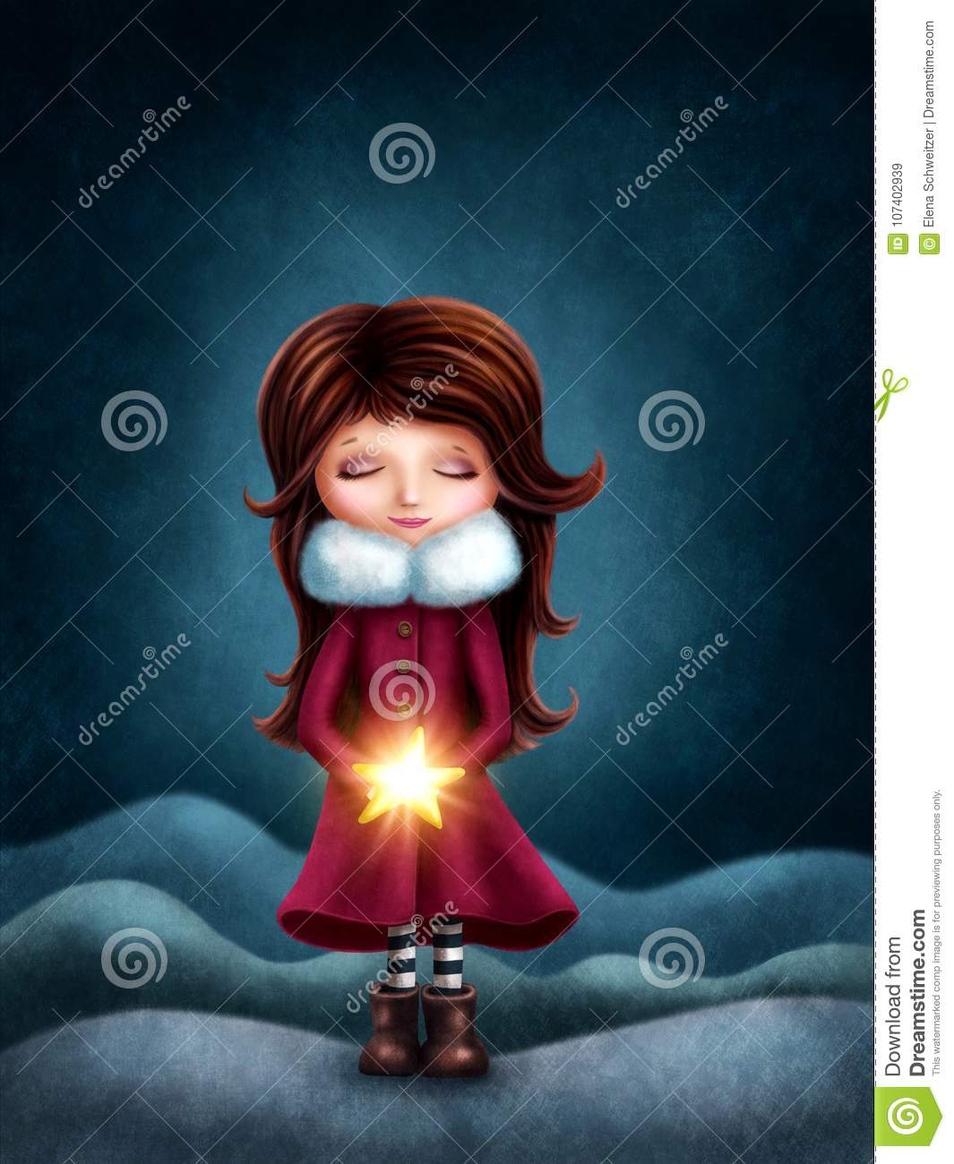 Little girl with star