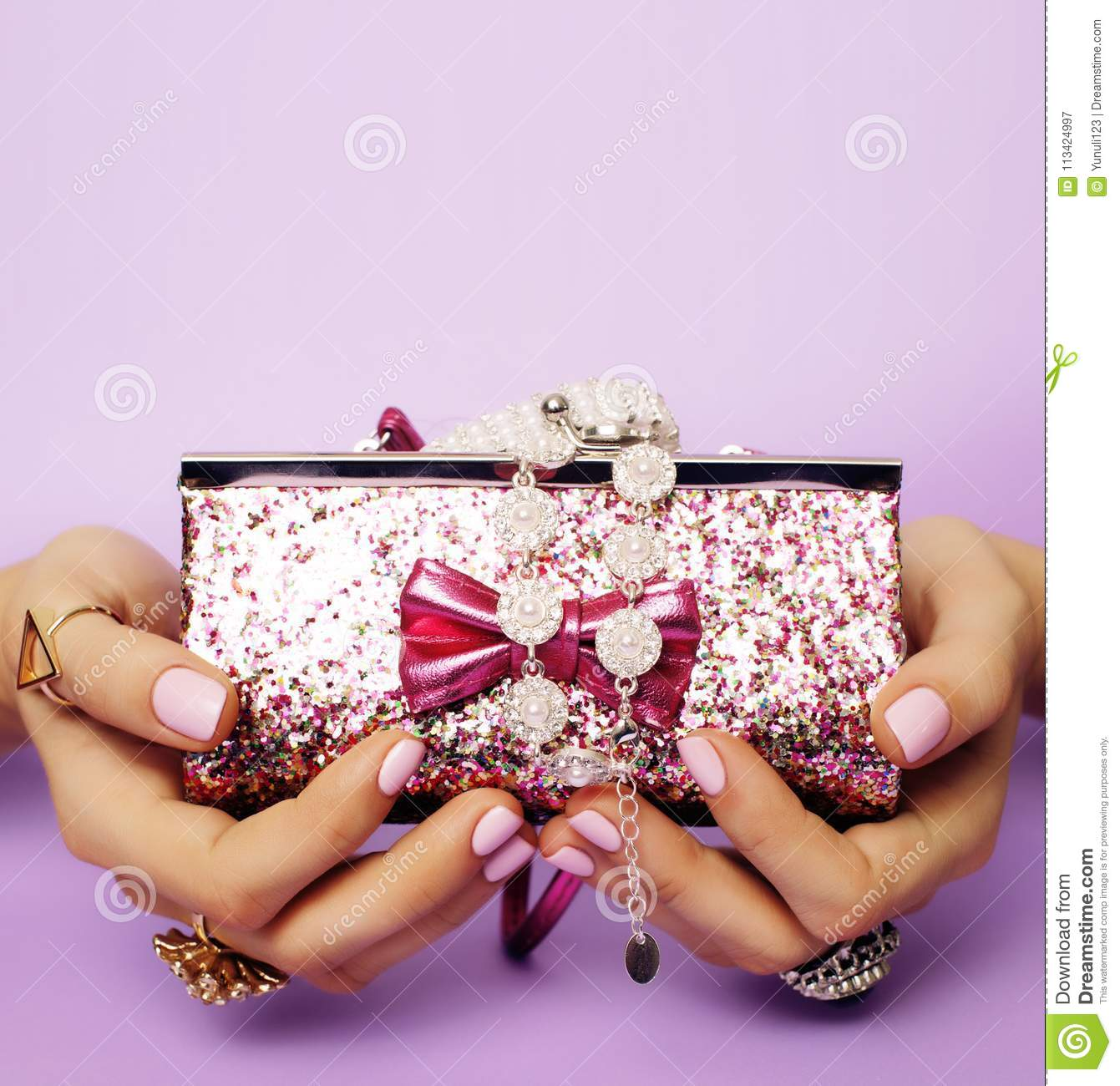 little girl stuff for princess woman hands holding small cute h
