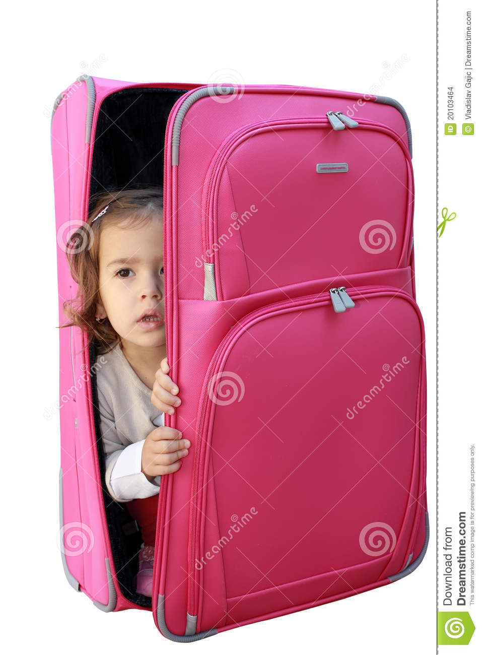 Little Girl In The Suitcase Stock Images - Image: 20103464