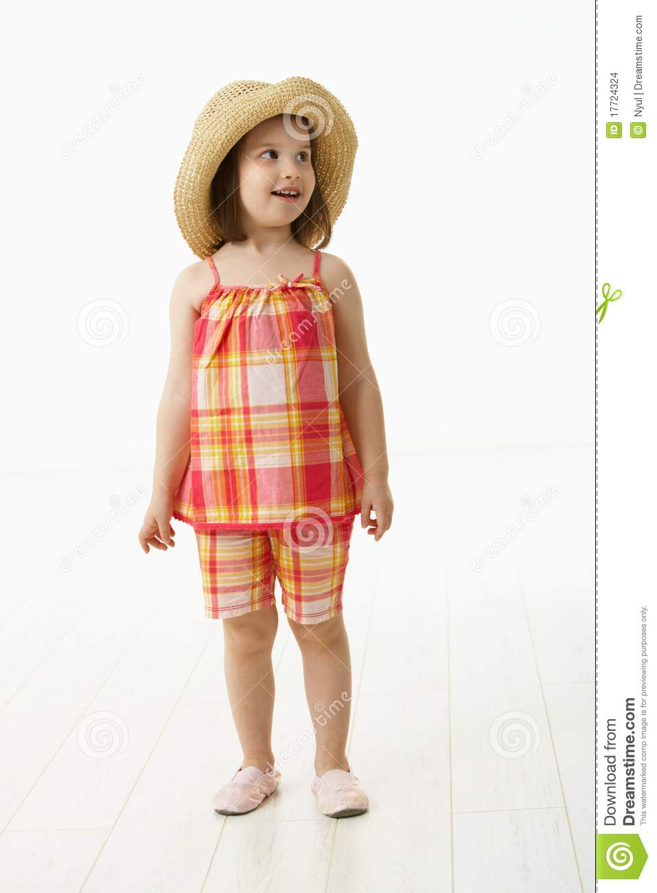 Little Girl In Summer Dress Stock Images - Image: 17724324