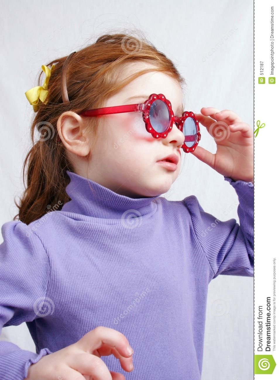 Little Girl In Sunglasses Royalty Free Stock Photography